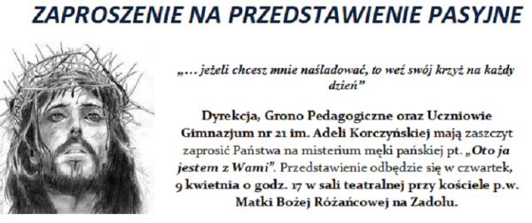Gimazium 21 - Zaproszenie na przedstawienie 3