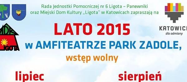 Harmonogram wydarzeń kulturalnych Amfiteatr Parku Zadole 2015