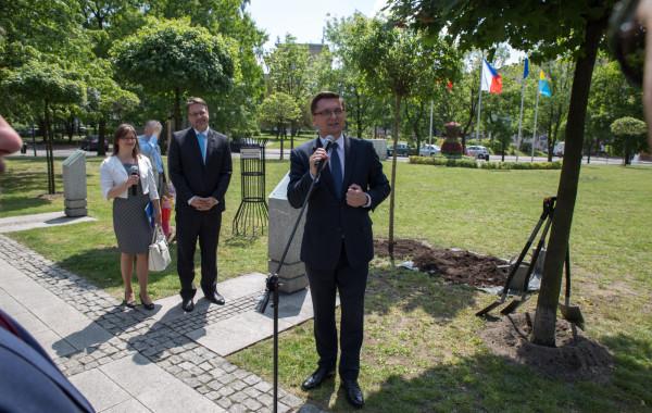 Prezydent miasta Katowice - dr Marcin Krupa - Katowice Ligota - Plac miast Partnerskich 24.05.2016